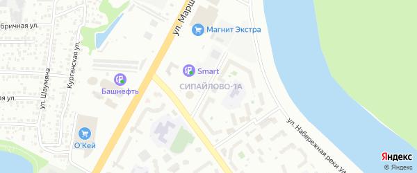 Улица Сабира Лукманова на карте Уфы с номерами домов