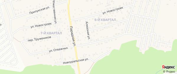 Алмазная улица на карте села Нагаево с номерами домов