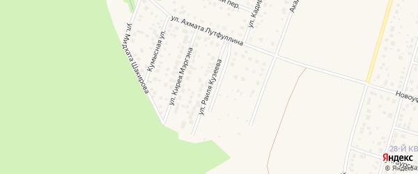 Улица Раиля Кузеева на карте села Нагаево с номерами домов