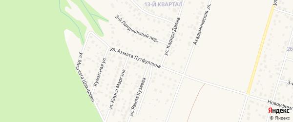 Улица Ахмата Лутфуллина на карте села Нагаево с номерами домов