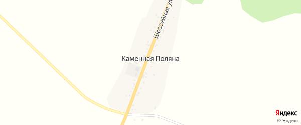 Шоссейная улица на карте деревни Каменной Поляны с номерами домов