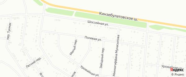 Полевая улица на карте Ишимбая с номерами домов
