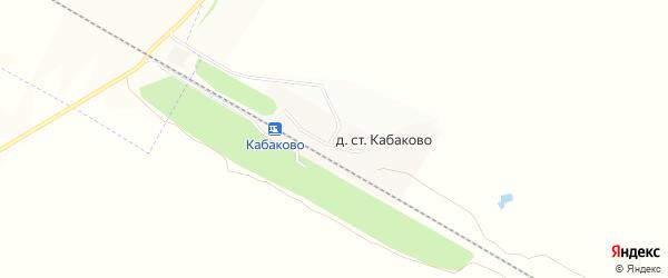 Карта деревни Станции Кабаково в Башкортостане с улицами и номерами домов