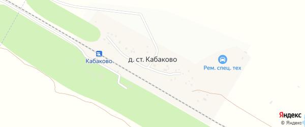 Железнодорожная улица на карте деревни Станции Кабаково с номерами домов