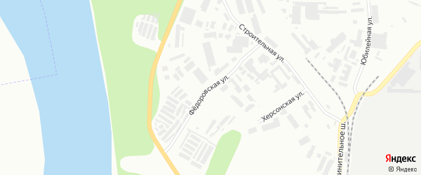 Федоровская улица на карте Уфы с номерами домов