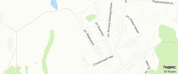 Улица Маршака на карте Ишимбая с номерами домов