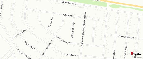 Звездный переулок на карте Ишимбая с номерами домов