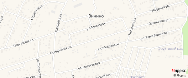 Прилукская улица на карте села Нагаево с номерами домов