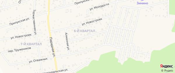 Земледельческий переулок на карте села Нагаево с номерами домов