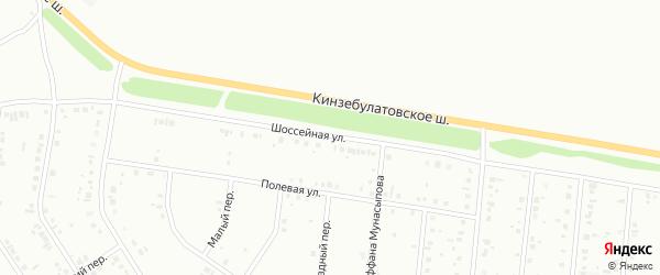 Шоссейная улица на карте Ишимбая с номерами домов