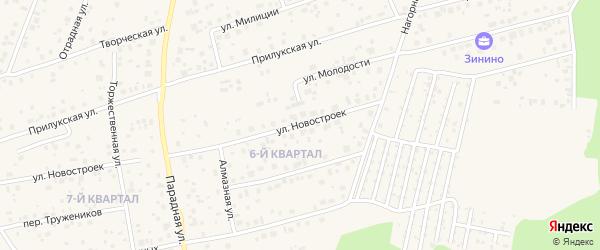 Улица Новостроек на карте села Нагаево с номерами домов