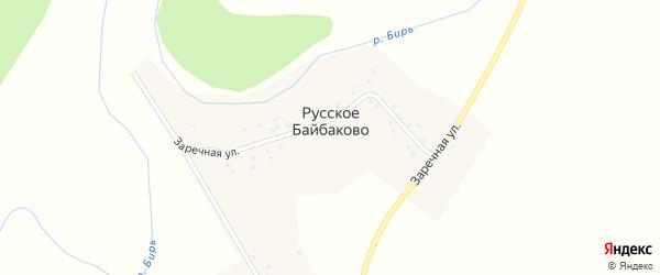 Улица Строителей на карте деревни Русское Байбаково с номерами домов