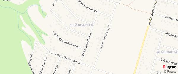 Улица Кадира Даяна на карте села Нагаево с номерами домов