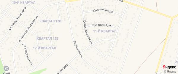 Смородиновая улица на карте села Нагаево с номерами домов