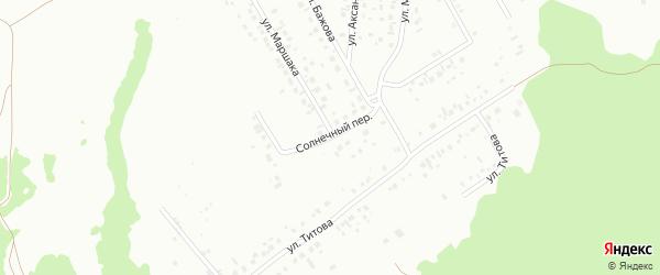 Солнечный переулок на карте Ишимбая с номерами домов
