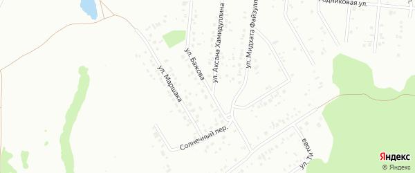 Улица Бажова на карте Ишимбая с номерами домов