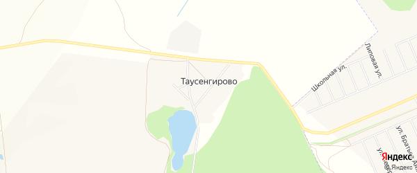 Карта деревни Таусенгирово в Башкортостане с улицами и номерами домов
