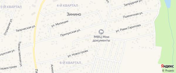 Улица Молодости на карте села Нагаево с номерами домов