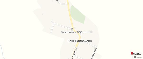 Улица Тукаева на карте деревни Баш-Байбаково с номерами домов