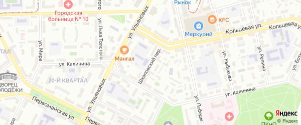 Шкаповский переулок на карте Уфы с номерами домов