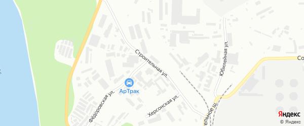 Строительная улица на карте Уфы с номерами домов