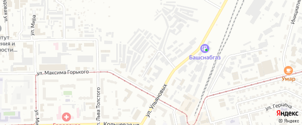 Рыбинская улица на карте Уфы с номерами домов