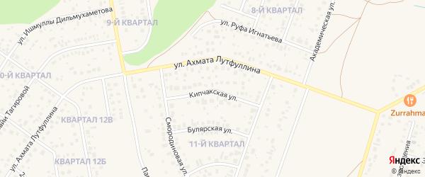 Кипчакская улица на карте села Нагаево с номерами домов