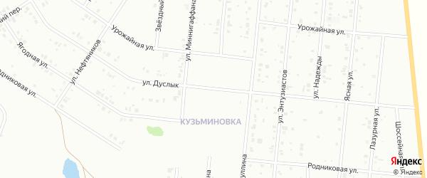 Улица Дуслык на карте Ишимбая с номерами домов