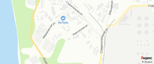 Херсонская улица на карте Уфы с номерами домов