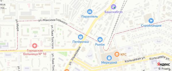 Улица Ульяновых на карте Уфы с номерами домов