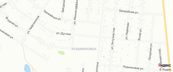 Улица Аксана Хамидуллина на карте Ишимбая с номерами домов