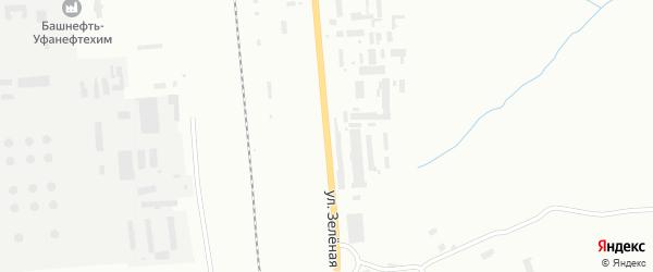Улица Зеленая Роща на карте Уфы с номерами домов