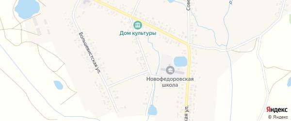 Октябрьская улица на карте деревни Новофедоровки с номерами домов