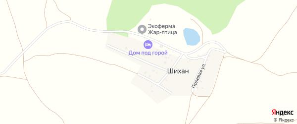 Полевая улица на карте деревни Шихана с номерами домов