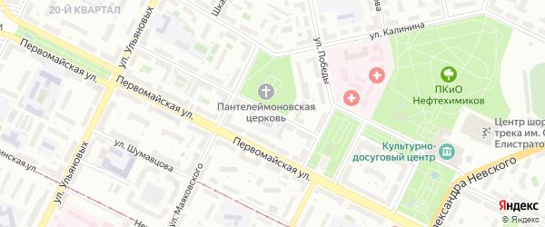 Архитектурная улица на карте Уфы с номерами домов