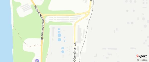 Юбилейная улица на карте Уфы с номерами домов