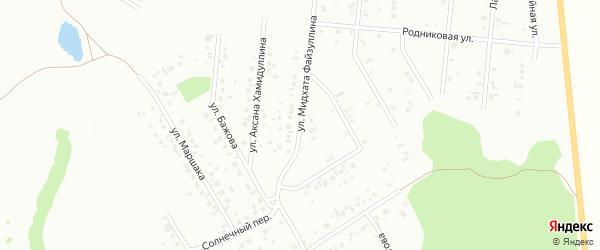Малый переулок на карте Ишимбая с номерами домов