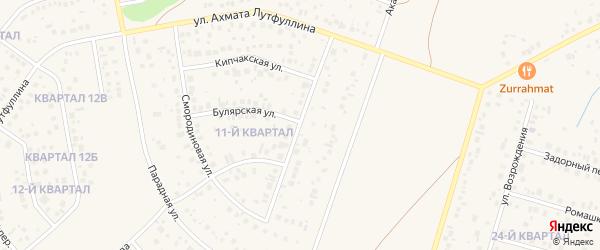 Улица Льва Лебединского на карте села Нагаево с номерами домов