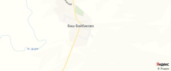 Карта деревни Баш-Байбаково в Башкортостане с улицами и номерами домов