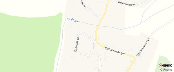 Садовая улица на карте села Камеево с номерами домов