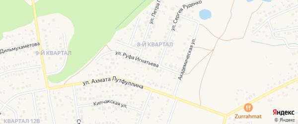 Улица Руфа Игнатьева на карте села Нагаево с номерами домов