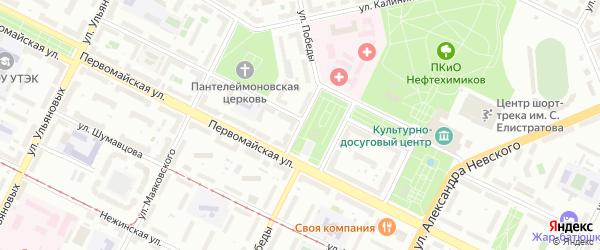 Улица Победы на карте Уфы с номерами домов