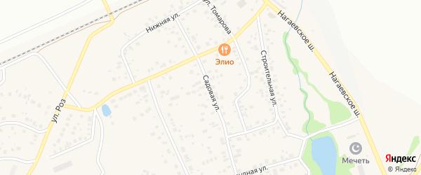 Садовая улица на карте деревни Зинино с номерами домов