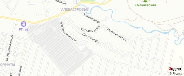 Почтовая улица на карте Ишимбая с номерами домов