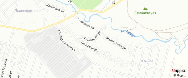 Кирпичная улица на карте Ишимбая с номерами домов