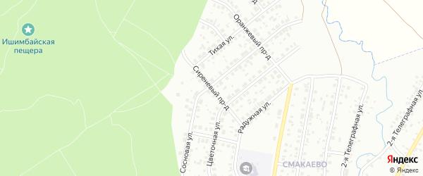 Сиреневый проезд на карте Ишимбая с номерами домов