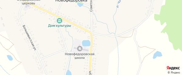 Советская улица на карте деревни Новофедоровки с номерами домов