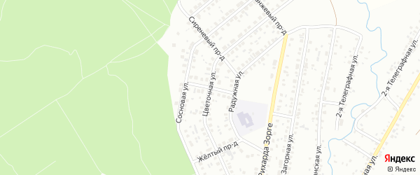 Красная улица на карте Ишимбая с номерами домов