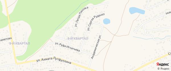 Улица Сергея Руденко на карте села Нагаево с номерами домов