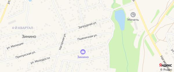 Пшеничная улица на карте деревни Зинино с номерами домов